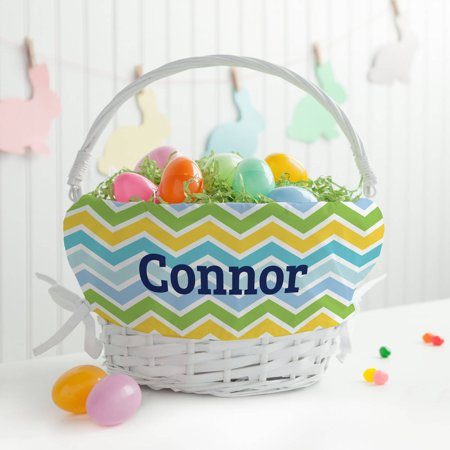 Personalized Chevron Boys' Easter Basket - Personalized Basket