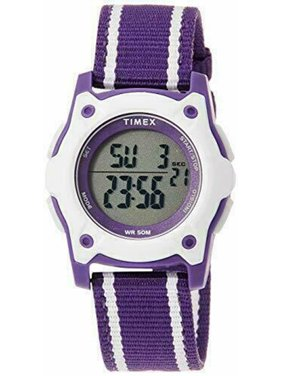Timex Kids' Time Machines Digital Quartz Resin/Purple Nylon Watch TW7C26300