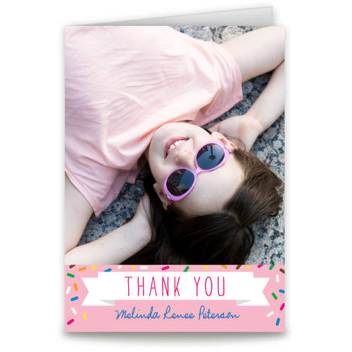 Sprinkle Pattern Thank You Card
