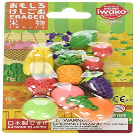 Iwako Japanese Fruit Eraser Set (Iwako Food Erasers)