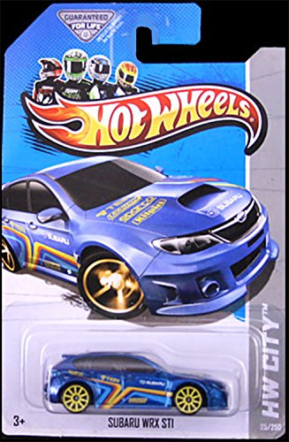 Blue SUBARU WRX Hot Wheels HW Showroom Subaru WRX STI #25 250 (10 Yellow Spoke Wheel) 1:64... by Mattel