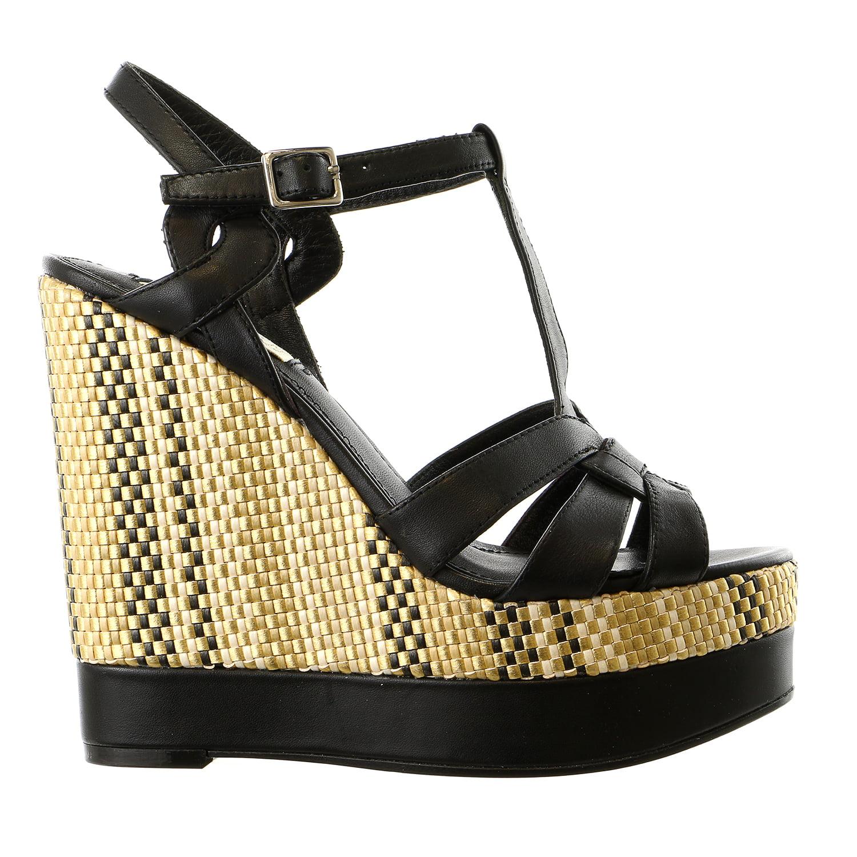 LAUREN Ralph Lauren Maeva Platform Wedge Sandal Shoe - Wo...