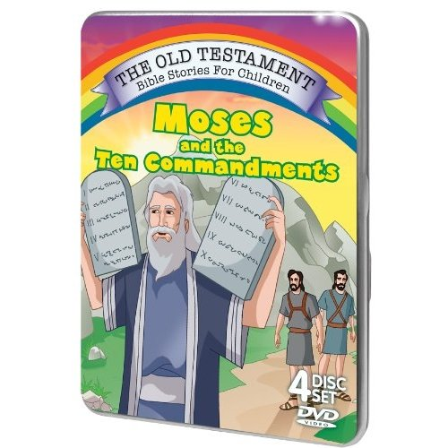 The Old Testament Bible Stories For Children: Moses And The Ten Commandments (Tin Case)