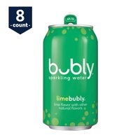 bubly Sparkling Water, Lime, 12 oz Cans, 8 Count
