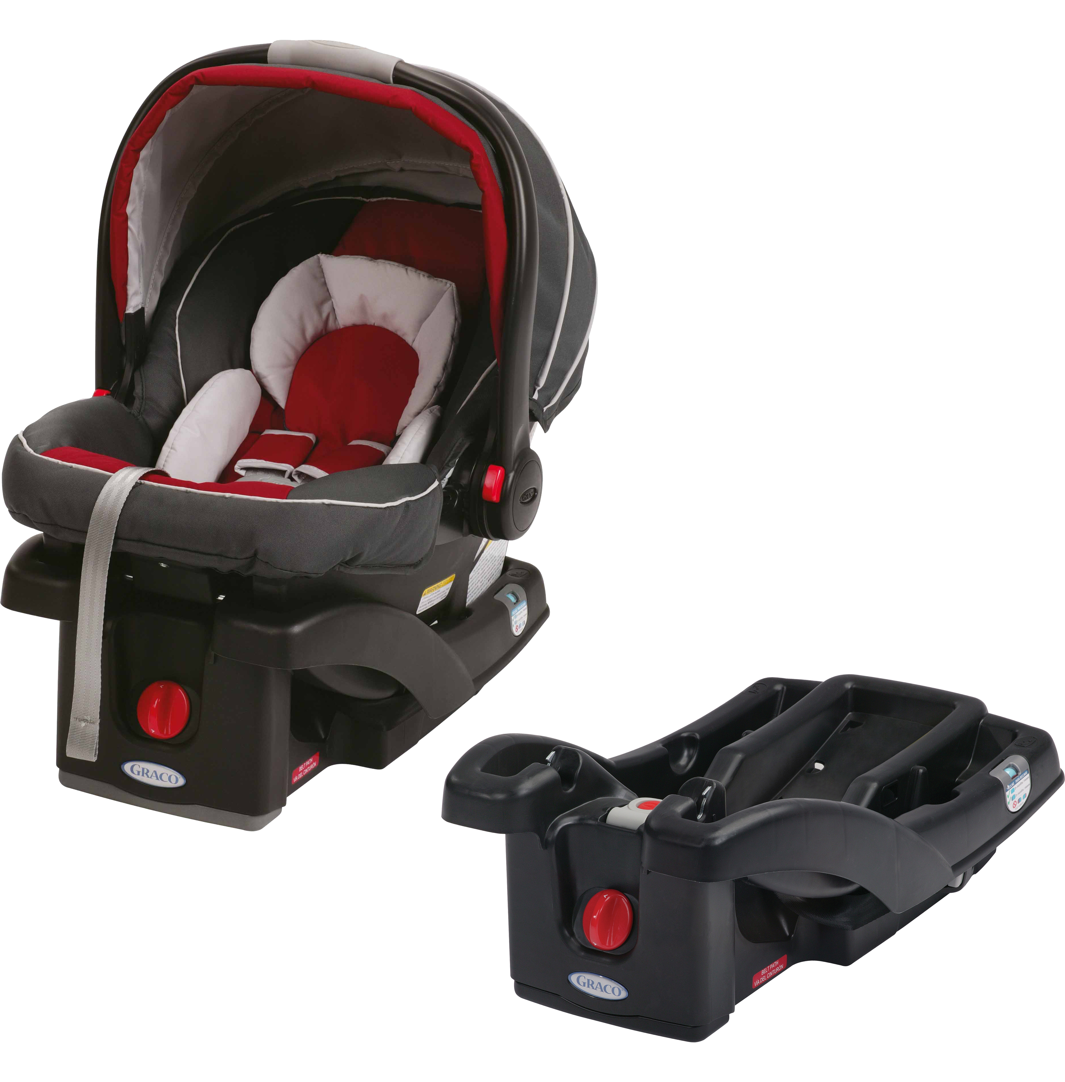 Graco SnugRide Click Connect 35 Infant Car Seat, Choose Your Color, AND SnugRider Stroller Frame