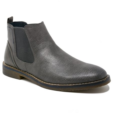 Alpine Swiss Men's Nash Chelsea Boots Snakeskin Ankle Boot Genuine Leather Lined