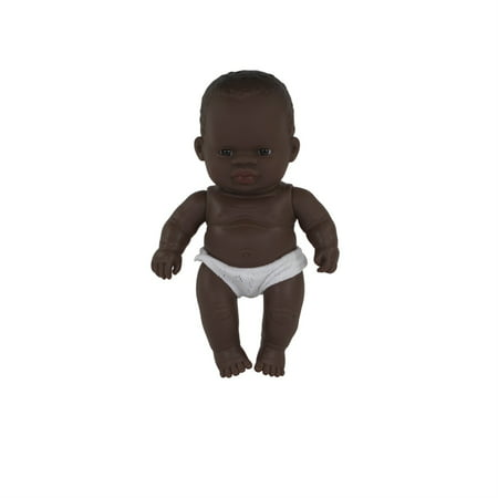 """miniland newborn baby doll african boy (21cm, 8 2/8"""")"""