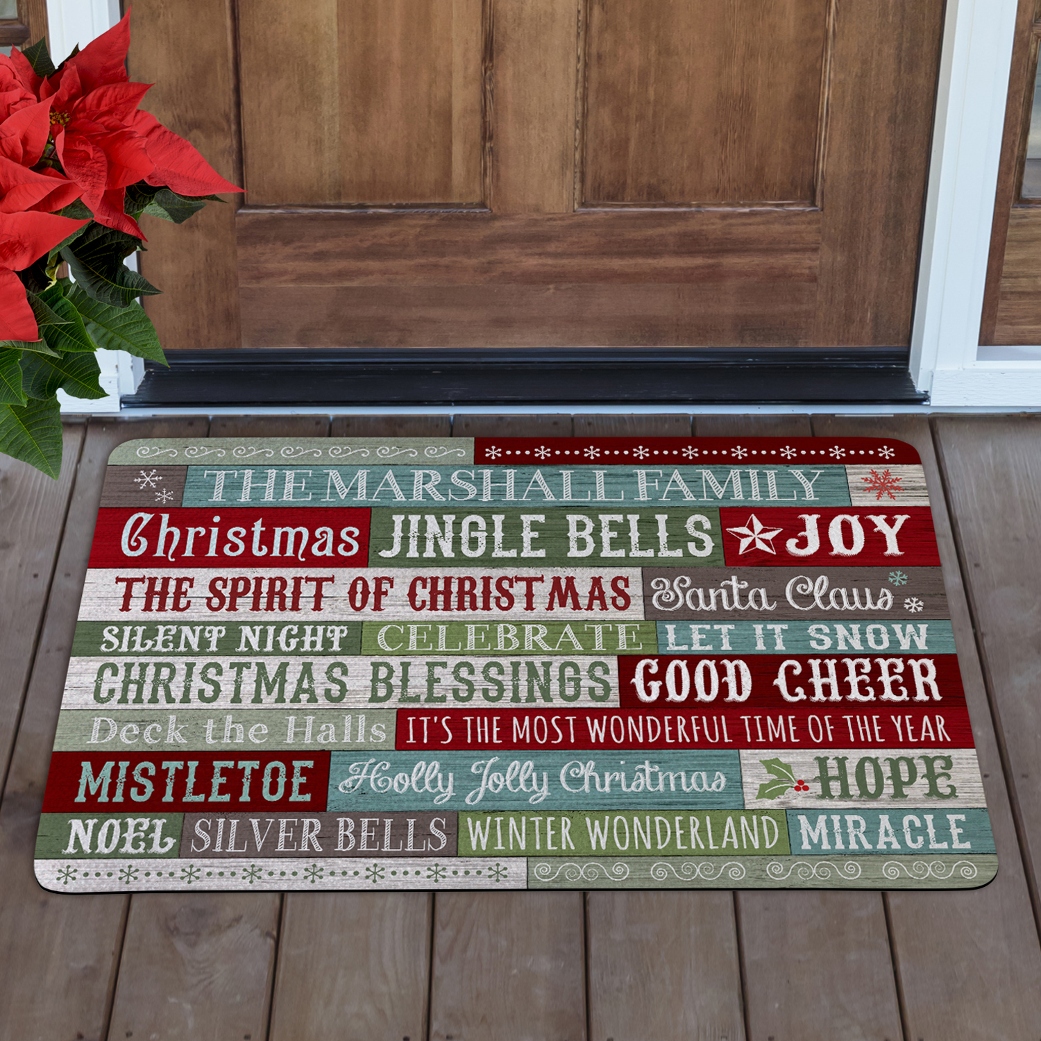 Personalized Christmas Blessings Doormat