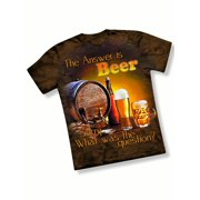 The Answer is Beer Funny Novelty T Shirt
