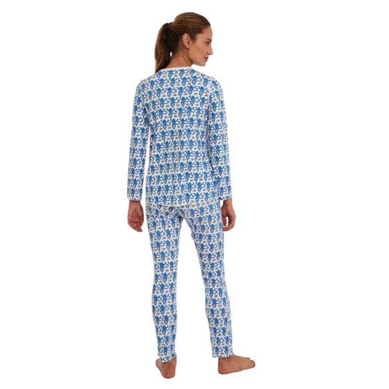 1fe6d0c4af53 Roller Rabbit - Long Sleeve Pajama Set - Monkey - Blue - Small ...