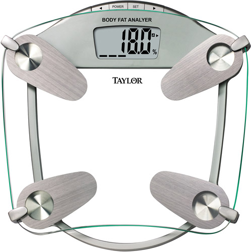 Taylor Tempered Glass Body Fat/Body Water Bath Scale