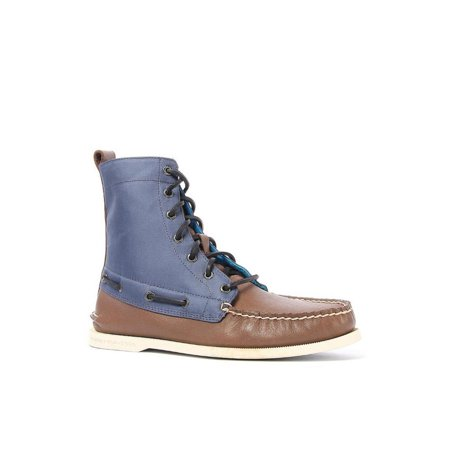 Sperry Top Sider Mens A O Quilt Nylon Brown Navy Boot