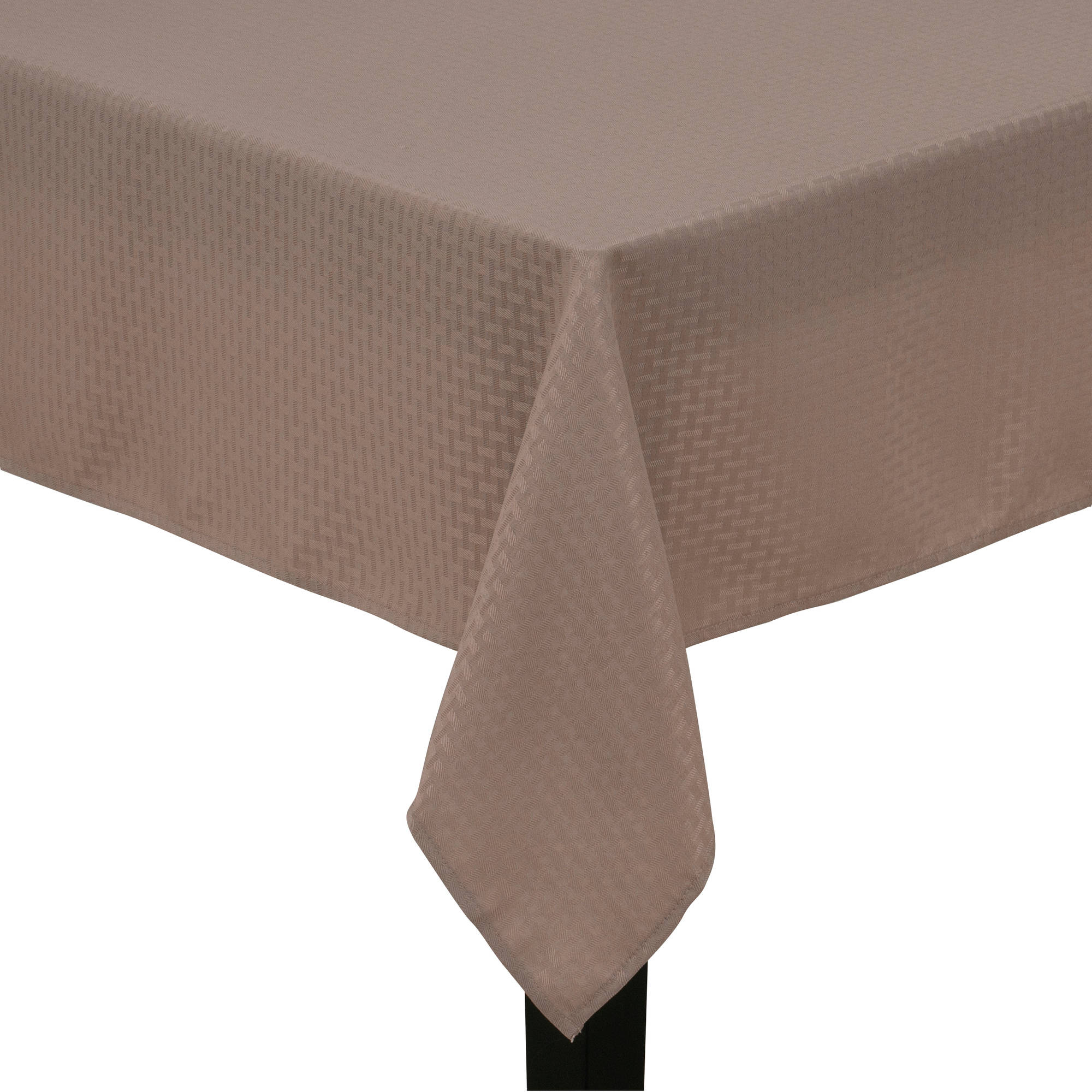 Mainstays Hyde Fabric Tablecloth, Brownstone