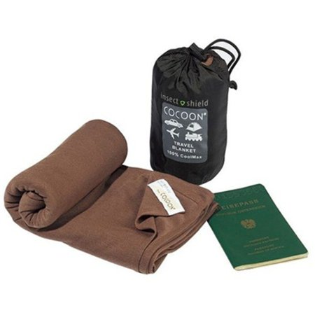 Cozy Cocoon (INSECT SHIELD COOLMAX TRAVEL BLANKET (KALAHARI BROWN), Size: 180x140 cm By Cocoon)
