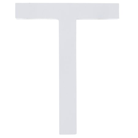 MDF Wood White Painted Letter T (6 Inches)
