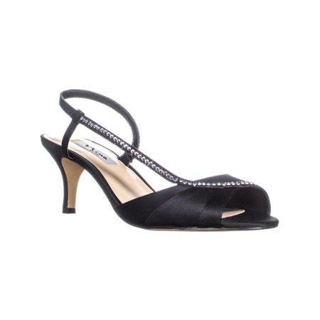 aa8355d564c2 Nina Cabell Slip On Heeled Dress Sandals