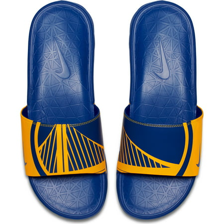 Golden State Warriors Nike Benassi Solarsoft NBA Slides - Yellow