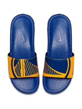 low priced 597ca 42100 Product Image Golden State Warriors Nike Benassi Solarsoft NBA Slides -  Yellow