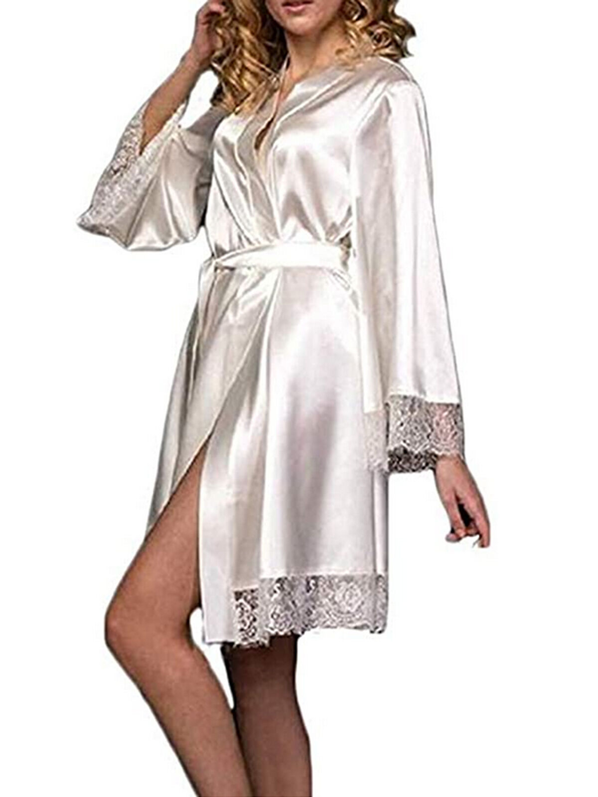 SexyTown Womens Satin Silk Long Nightgown Pajamas
