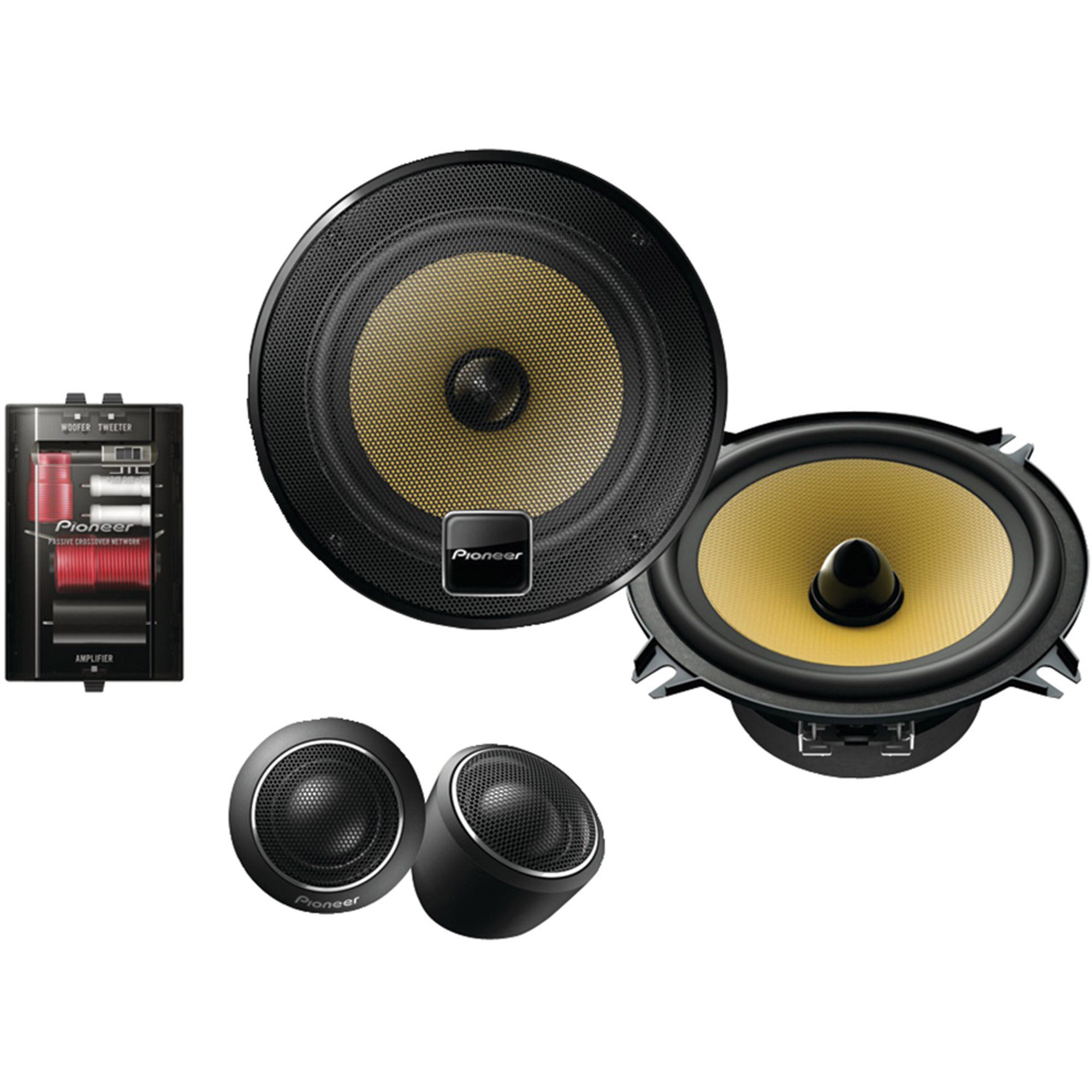 "Pioneer TS-D1330C 5.25"" D-Series 180W Component Speaker Package"