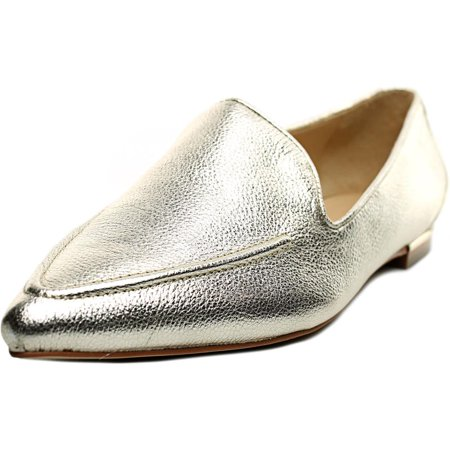Ivanka Trump Zariner Women Pointed Toe Leather Gold Loafer
