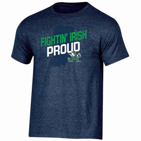 Fighting Irish Ncaa Precision Cut (Men's Russell Navy Notre Dame Fighting Irish Slant)