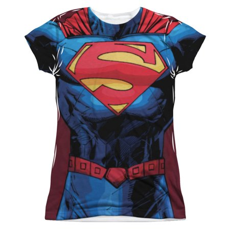 Superman  New 52 Superman Girls Jr Sublimation White