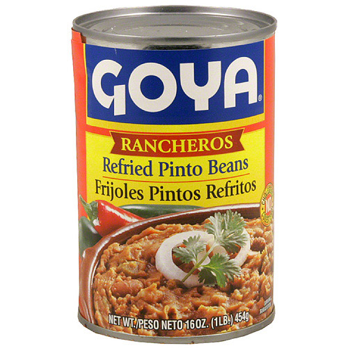 Goya Refried Pinto Beans, 16 oz (Pack of 12)