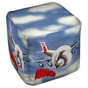 Airplane Poster Cube(Ottoman) White 18X18X18
