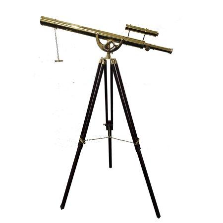 Nautical Shinny New Decorative Telescope with Brown Tripod Navy Gift Item - Decorative Telescope