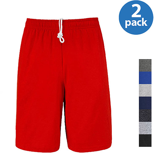 Fruit of the Loom Men's Jersey Short, 2 Pack