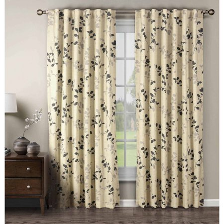 Meridian Cotton Blend 104   X 84   Rod Pocket And Back Tab Curtain Panel Pair