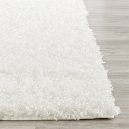 Safavieh Athens Shag 3' X 5' Power Loomed Polypropylene Rug in White - image 2 de 3