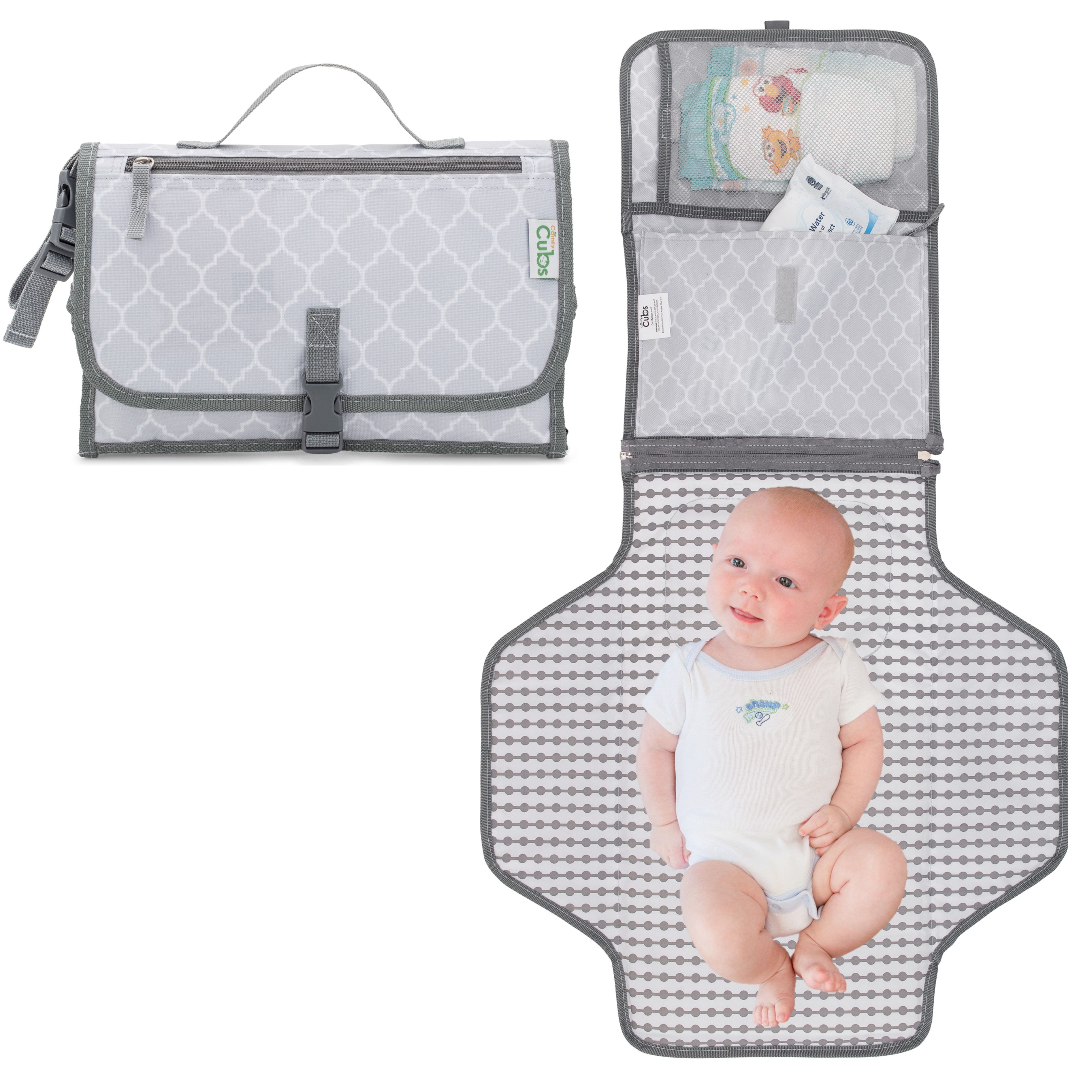 Breathable Baby Waterproof Portable Diaper Travel Changing Mat Storage 6A