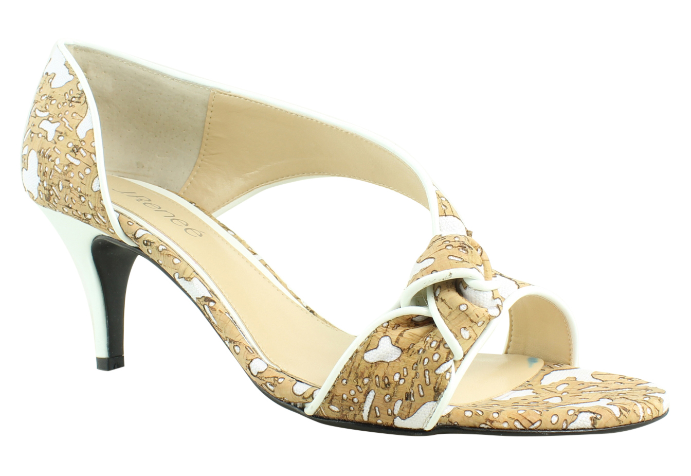 New J. Renee Womens Jaynni-Cocow Cork White Sandals Size 9 Wide (C, D, W) by J. Renee