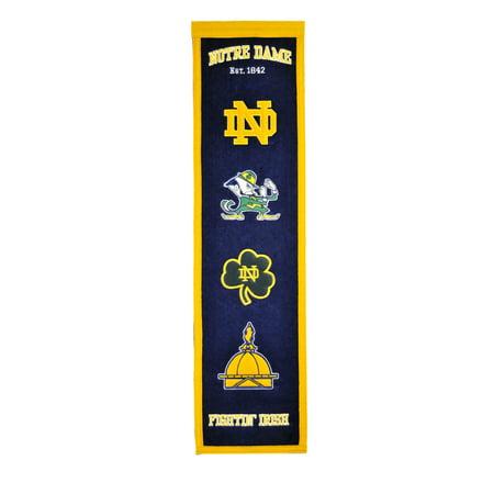 Winning Streak - NCAA Heritage Banner, Notre Dame Fighting - Notre Dame Party Supplies
