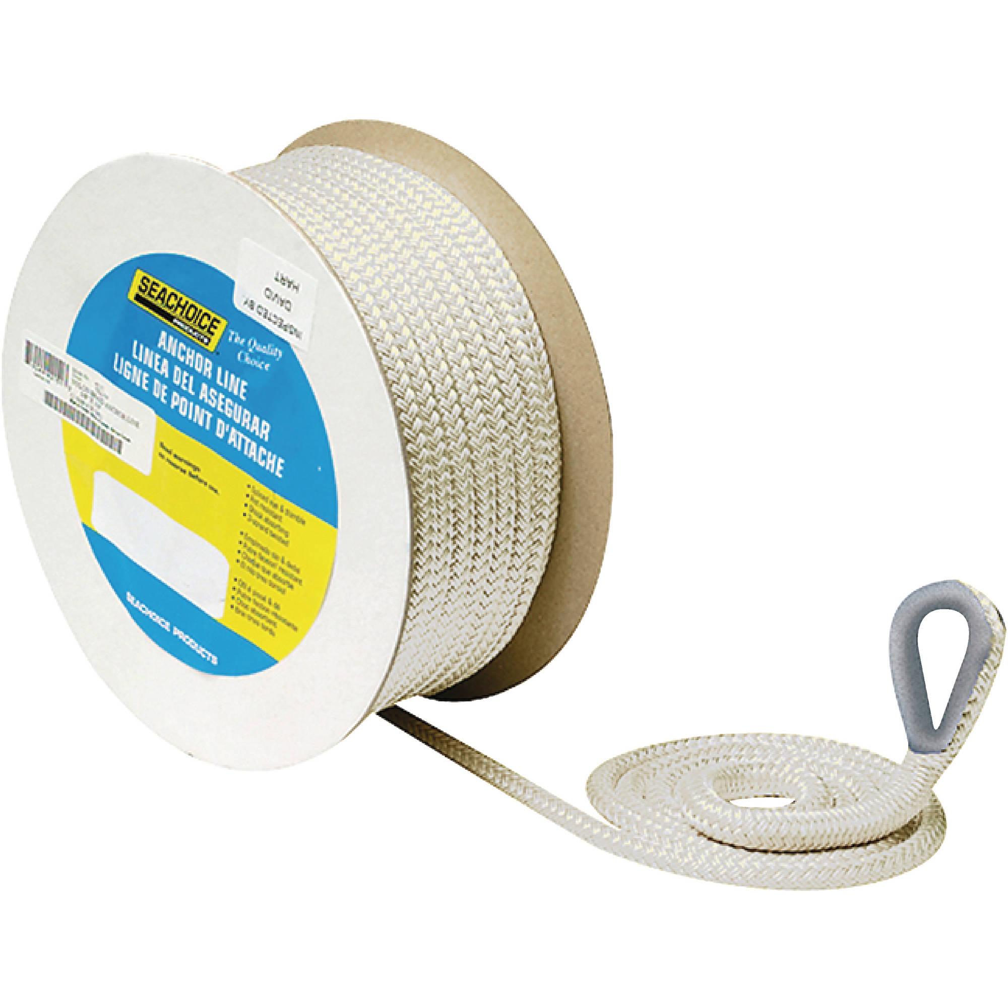 Seachoice Double Braid Nylon Anchor Line, White