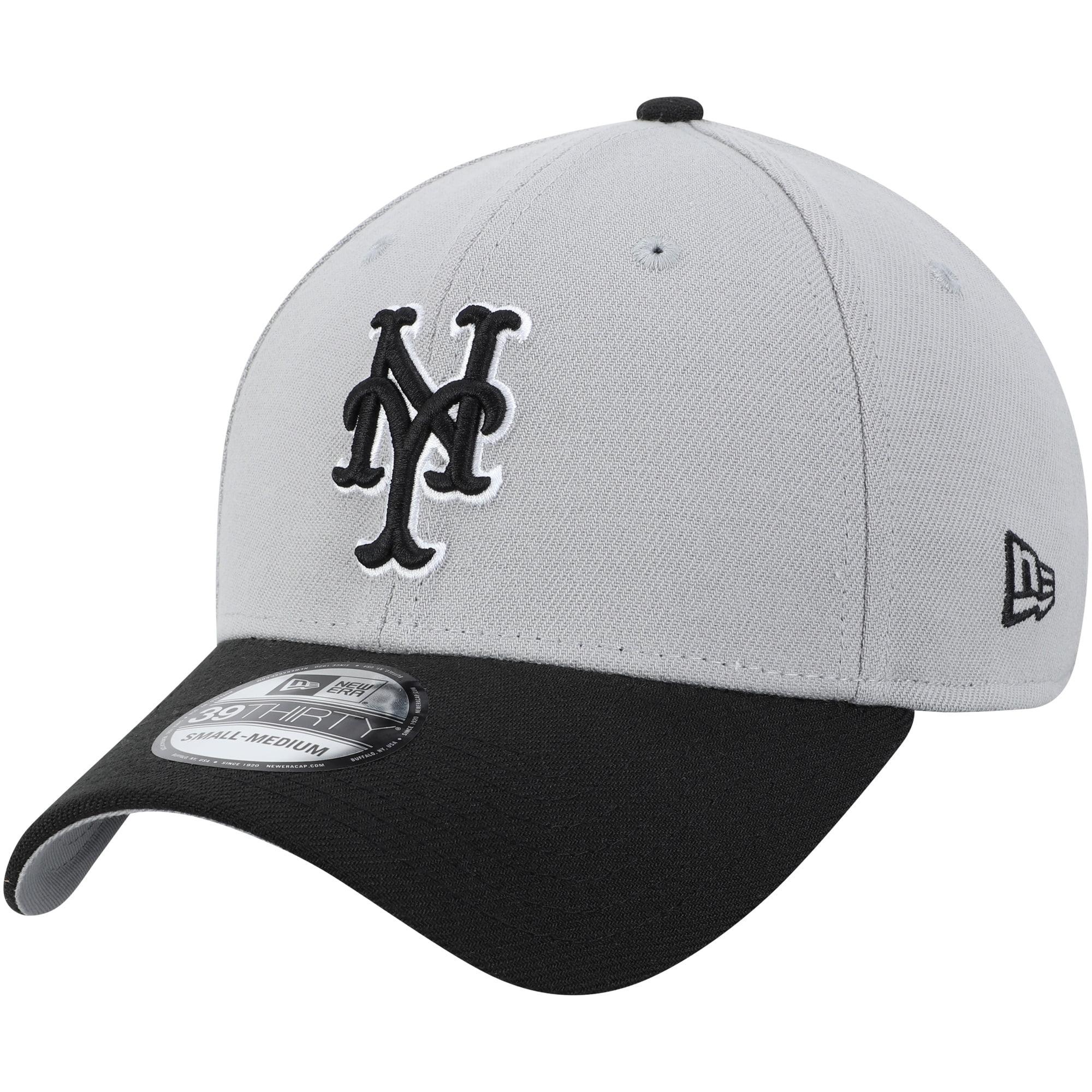New York Mets New Era Team Classic 39THIRTY Flex Hat - Gray/Black