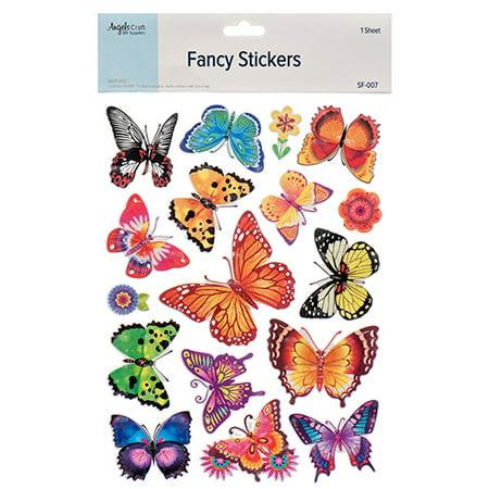 New 381876  Angels Craft Fancy Sticker Butterfly (12-Pack) School Supplies Cheap Wholesale Discount Bulk Stationery School Supplies Hour - Cheap Stickers