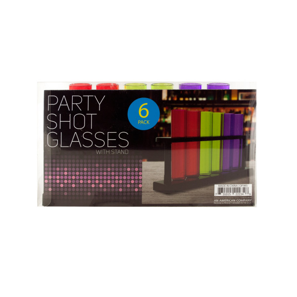 Test Tube Party Shot Glasses With Stand (Pack Of 4)