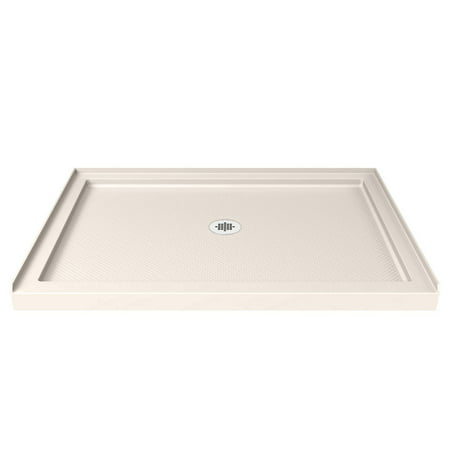 DreamLine SlimLine 36 in. D x 48 in. W x 2 3/4 in. H Center Drain Single Threshold Shower Base in (Single Threshold Rectangular Shower Base)