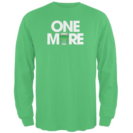 St. Patricks Day - One More Irish Green Adult Long Sleeve T-Shirt