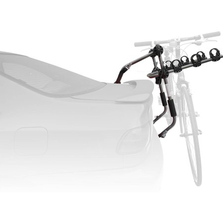 Sparehand Trunk Mounted 3-Bike Car and SUV Rack for All Frame Types Stoneman Sports, VR-643, Grey