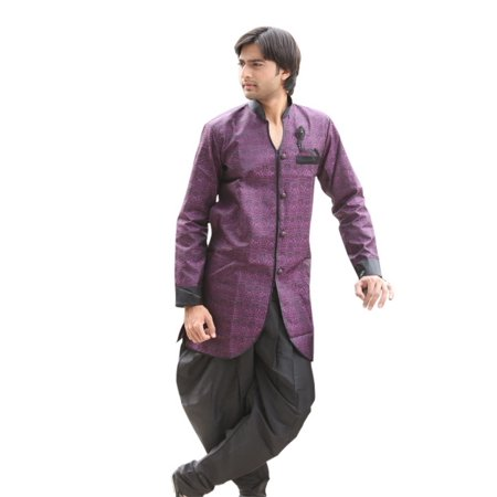 Lavender Indian Wedding Indo-Western Sherwani for Men. This product is custom made to order. - image 1 de 4
