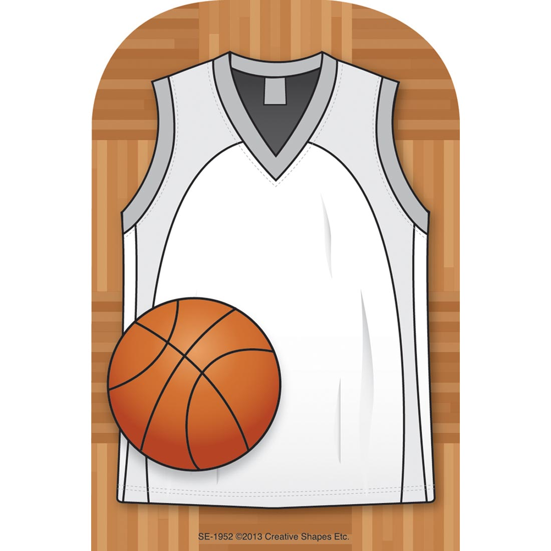 Creative Shapes Basketball Jersey Notepad