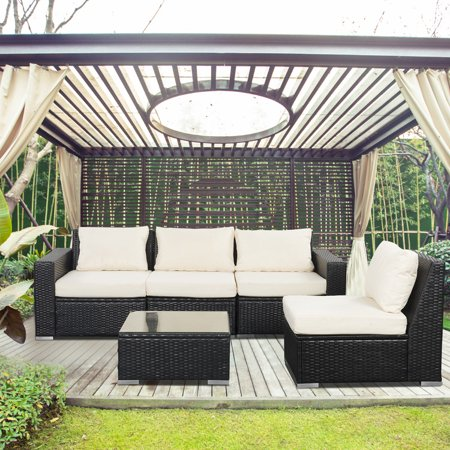 Remarkable Outdoor Patio Furniture Sets Pe Rattan Wicker Sofa Sectional With Beige Cushions Inzonedesignstudio Interior Chair Design Inzonedesignstudiocom