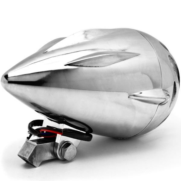 "4 3/4"" Chrome Round Motorcycle Headlight Light For Vespa ET2 ET4 Limited - image 2 of 6"