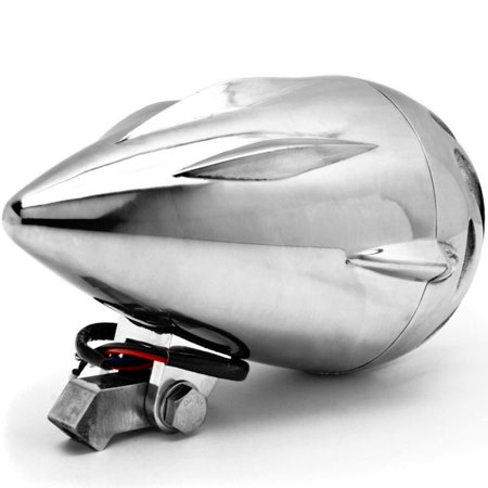 "4 3/4"" Chrome Round Motorcycle Headlight Light For Vespa Sport Sprint Rally Primavera Grande - image 2 of 6"