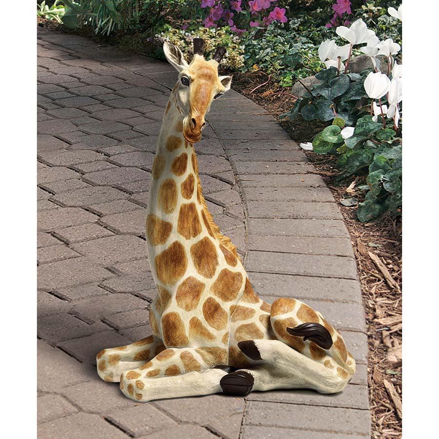 Zari, the Resting Giraffe Statue