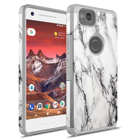 low priced 38b98 7ccdc Google Pixel 2 Case, PIXEL 2 Cases, KAESAR Slim Sleek Hybrid Dual Layer  Shockproof Hard Cover Graphic Fashion Cute Colorful Silicone Skin For  Google ...
